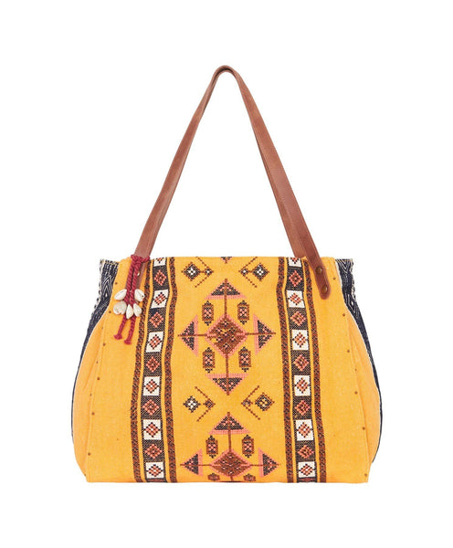 Tigerlily Azar Beach Bag - Mustard