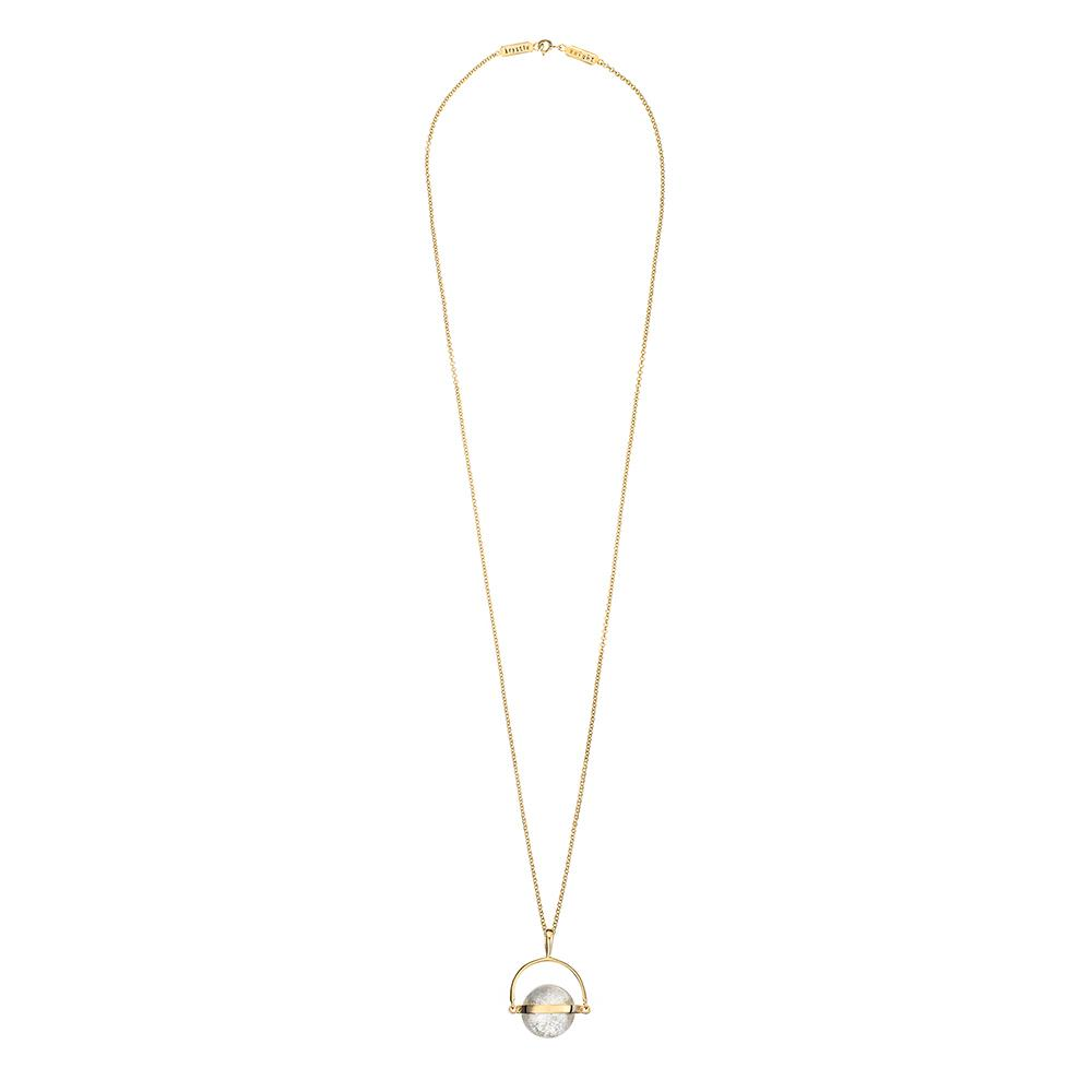Krystle Knight Wind In My Sail Quartz Necklace - Gold