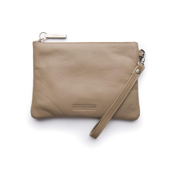 Stitch & Hide Cassie Clutch - Dusty Linen