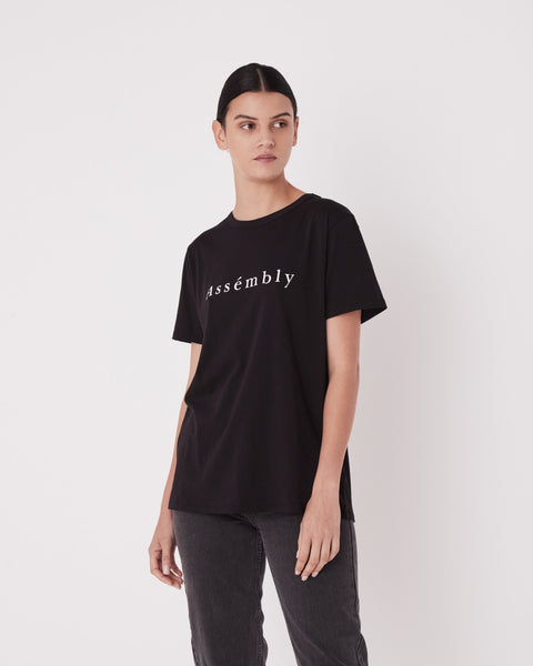Assembly Label - Accent Tee Black