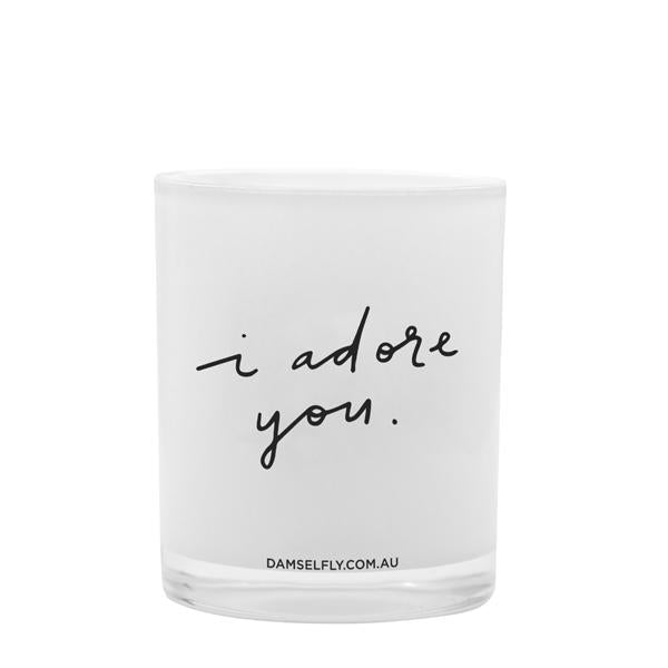 Damselfly Candle L - I Adore You