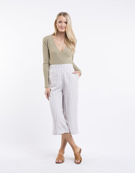 All About Eve Aria Wide Leg Culotte - Stripe