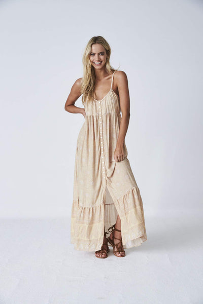 Indian Summer Co Kashmir Maxi - Sunshine