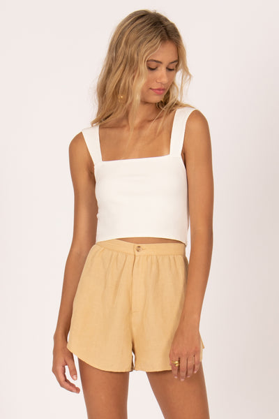 Amuse Society Easy Love Crop knit Top - Casa Blanca