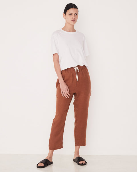 Assembly Label Anya Linen Pant - Terracotta