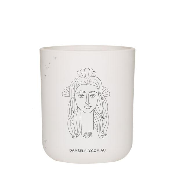 Damselfly Candle L - Aquarius
