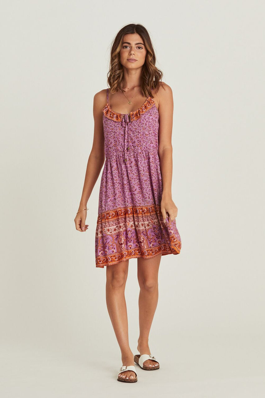 Arnhem Island Mini Dress - Amethyst