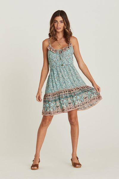 Arnhem Island Mini Dress - Lagoon