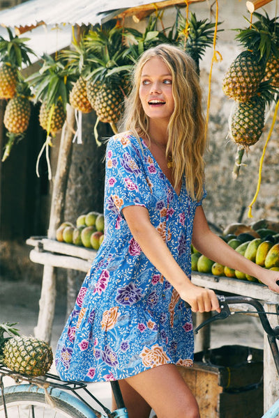 Arnhem Leilani Mini Dress - Floral Reef