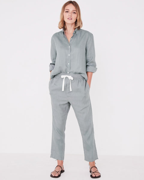 Assembly Label Anya Linen Pants - Mineral Green