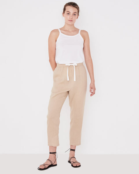 Assembly Label Anya Linen Pants - Dover