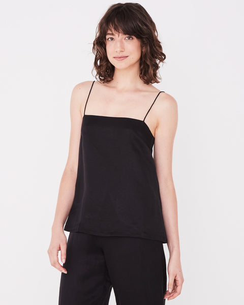 Assembly Label Column Cami - Black
