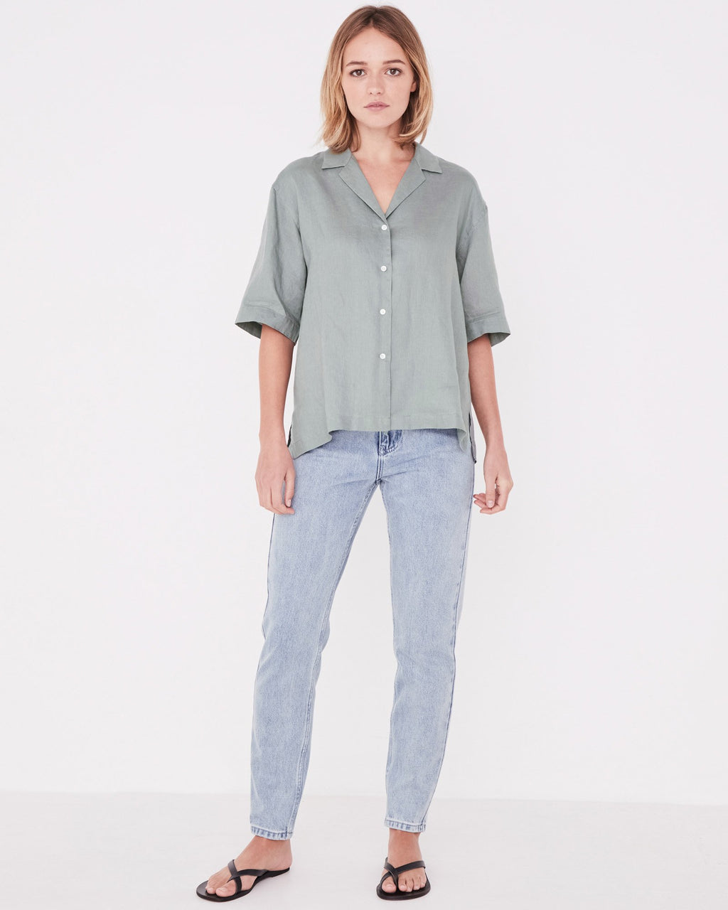 Assembly Label Kamala Short Sleeve Shirt - Mineral Green
