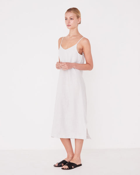 Assembly Label Linen Slip Dress - Pumice