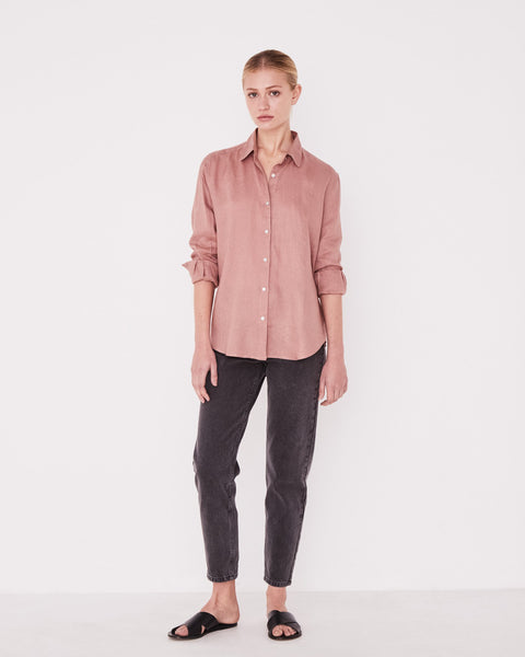 Assembly Label Xander Long Sleeve Shirt - Cameo Pink
