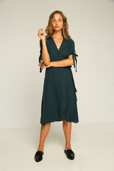 Rue Stiic Albany Wrap Dress Teal