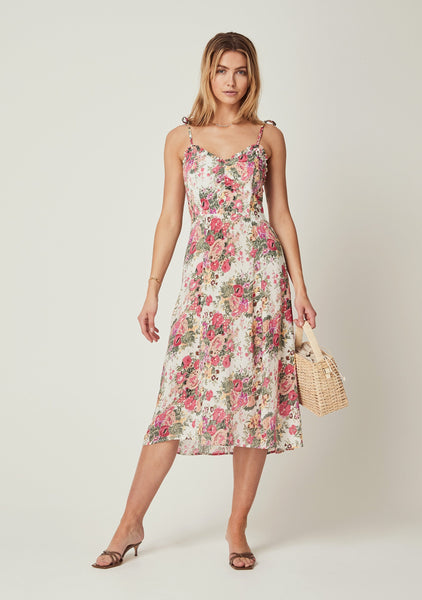 Auguste Provence Ada Midi Dress - Natural