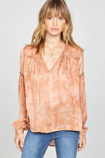 Amuse Society Washed Out Woven Top