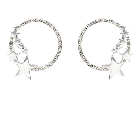 Kitte- Stardust Earrings- Silver