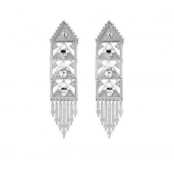 Samantha Wills Spanish Moss Grand Earrings - White Howlite