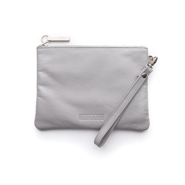 Stitch & Hide Cassie Clutch - Misty Grey