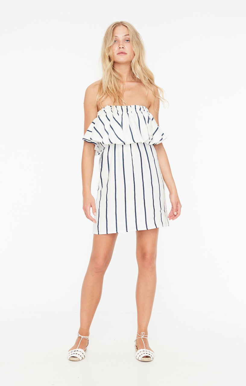 Faithfull The Brand Camino Dress- Thomson Stripe Print