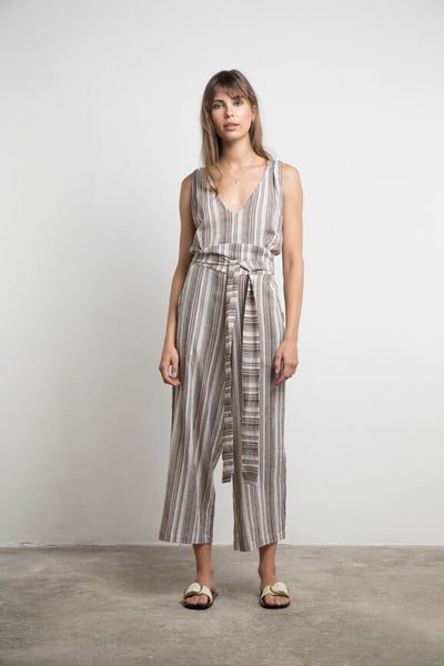 Lilya Lea Jumpsuit - Vintage Stripe Brown