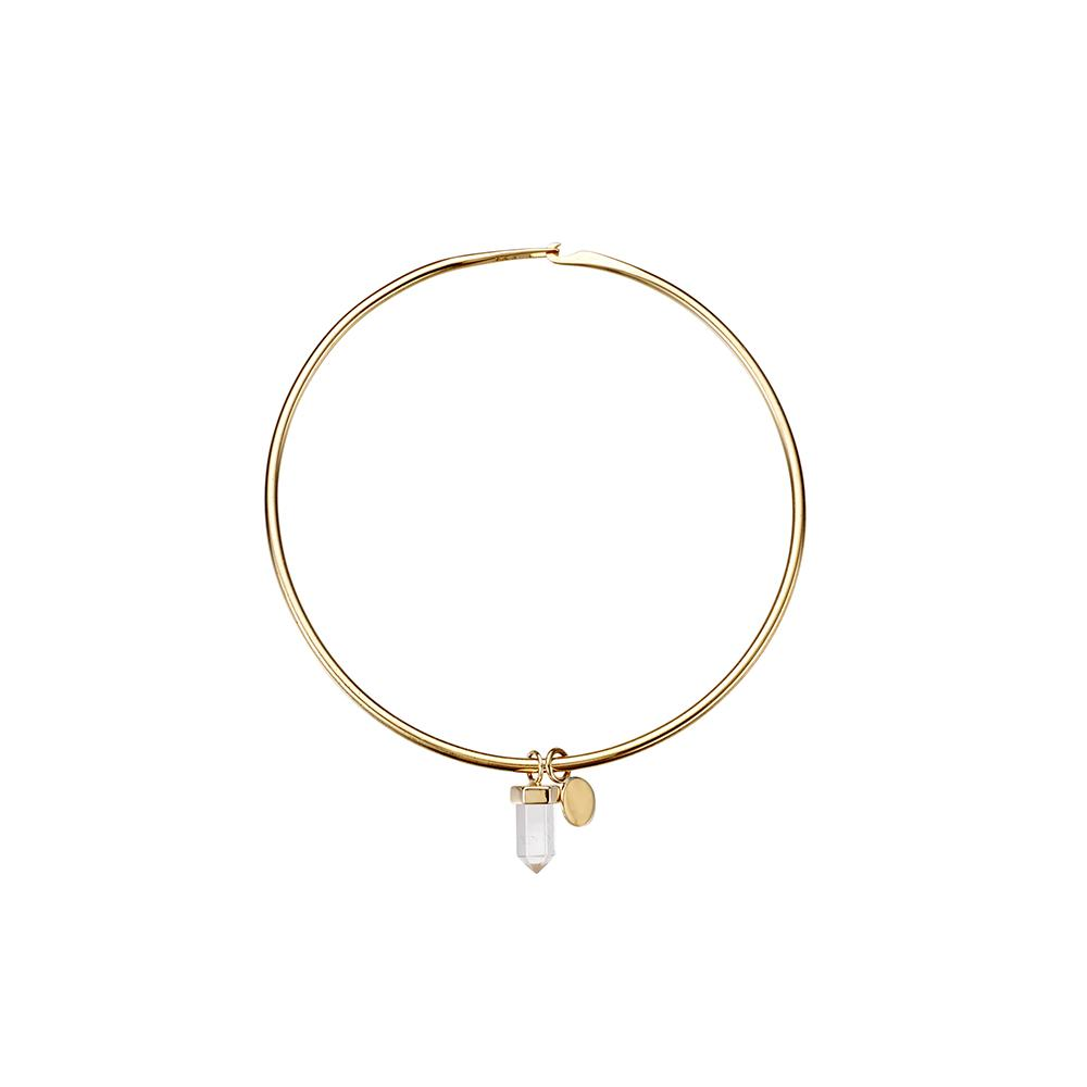Krystle Knight Chasing Waterfall Quartz & Coin Bracelet - Gold