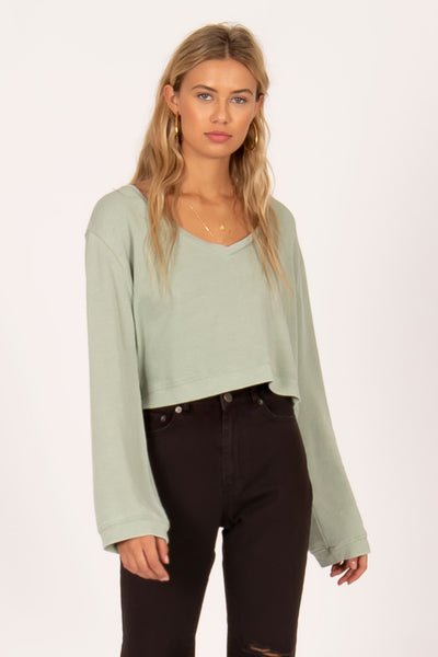 Amuse Society Coconut Grove LS Knit - Green