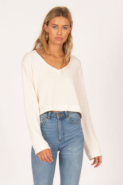 Amuse Society Coconut Grove LS Knit - Vintage White