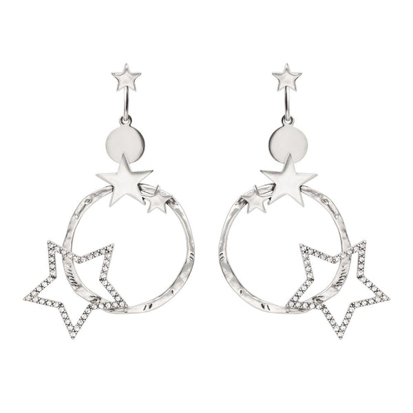 Kitte- Supernova Earrings Silver