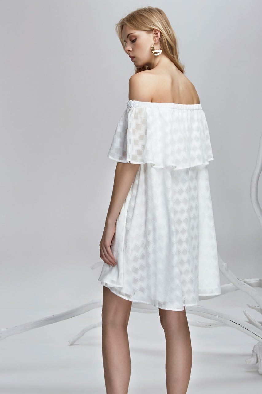 Finders Keepers Ascot Ruffle Dress