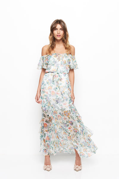 Alice McCall Oh Oh Oh Maxi Dress - Ivory Garden