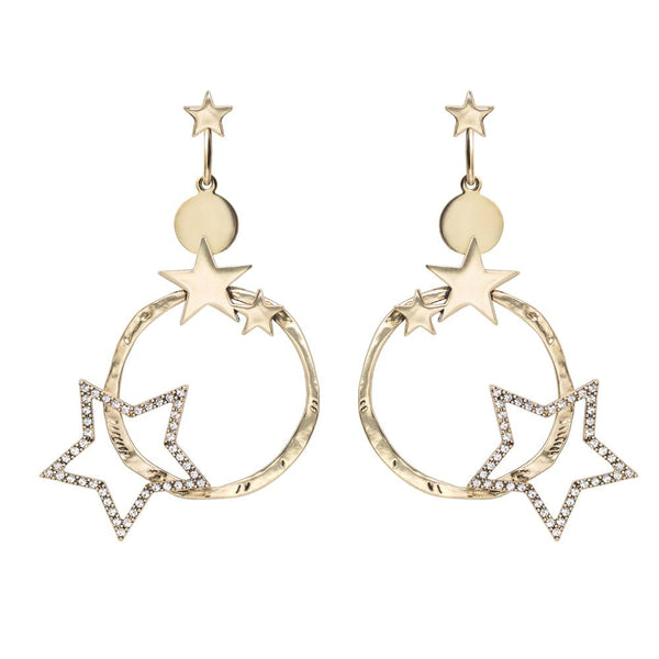 Kitte Supernova Earrings - Gold