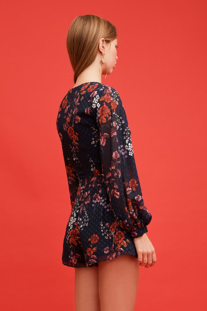 Keepsake Need You Now Playsuit - Navy Floral