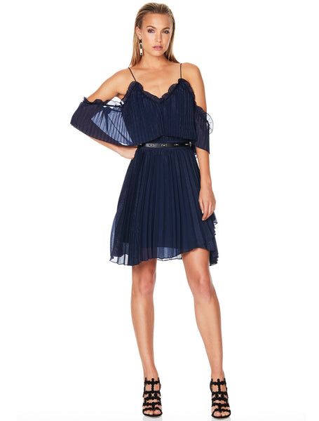 Talulah Pleated Wonder Mini Dress