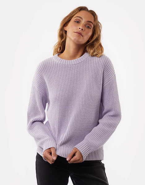All About Eve Everyday Knit Sweater- Purple