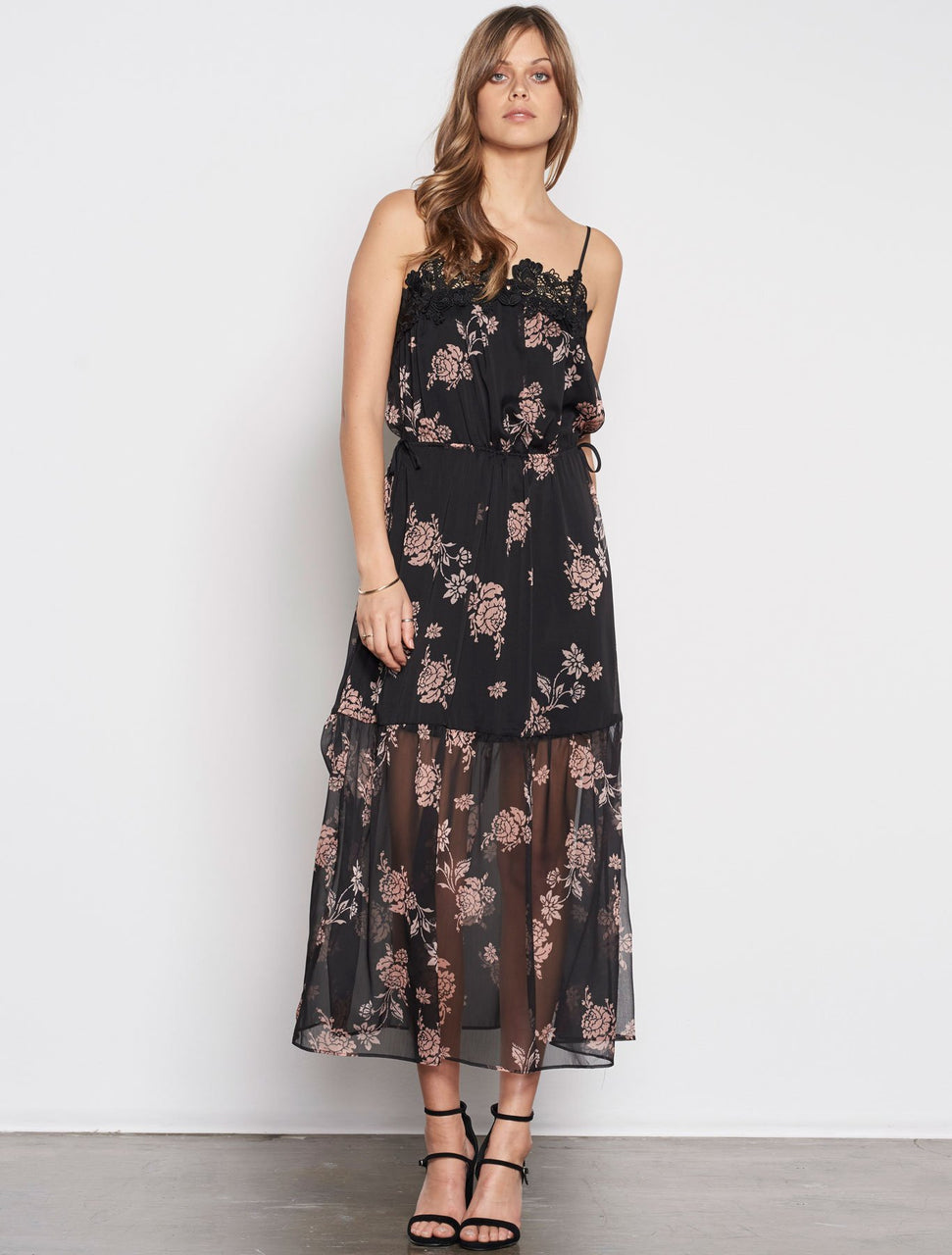 Stevie May Wild Peony Midi Dress