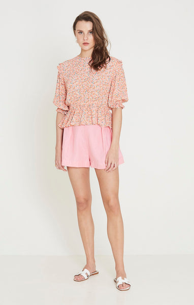 Faithfull Caleta Top - Mathiola Floral Print