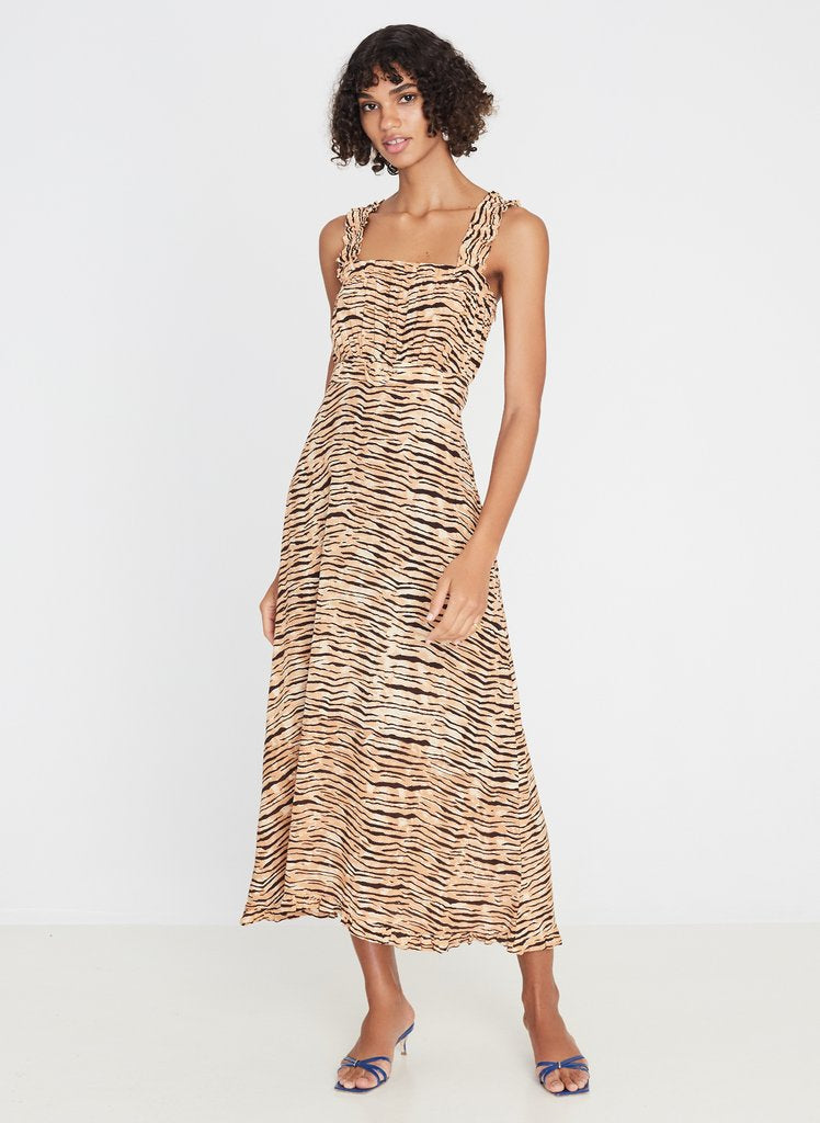 Faithfull Saint Tropez Midi Dress - Wyldie Animal Print