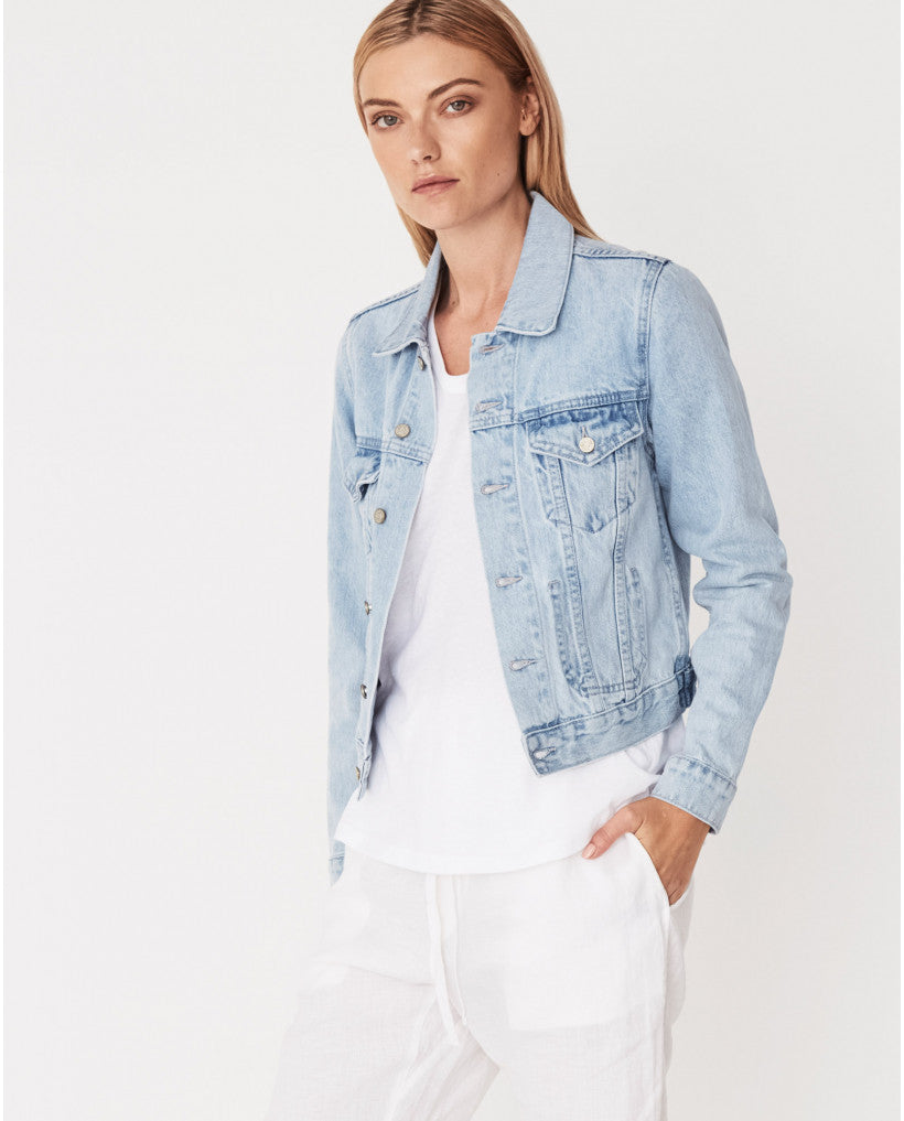 Assembly Label Femme Denim Jacket - Sea Blue
