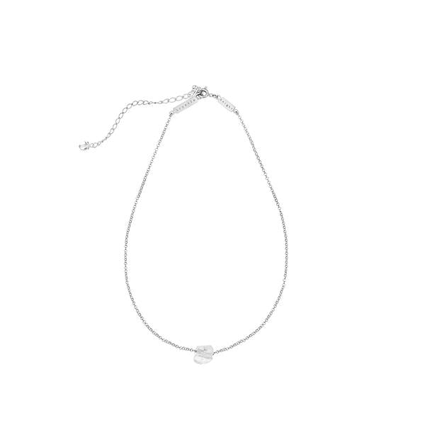 Krystle Knight Raw Energy Quartz Necklace Silver