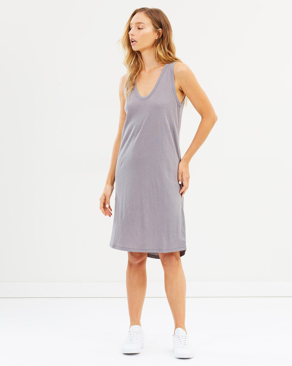 Assembly Label Curve Dress - Steel