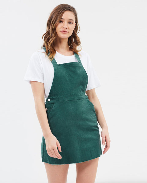 Nude Lucy Paige Baby Cord Pinafore - Tide Pool Green