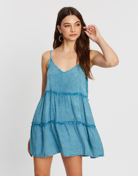 All About Eve Supple Washed Dress - Teal