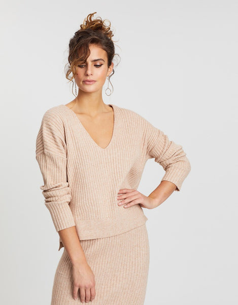 Nude Lucy Dylan Knit Top -  Stone