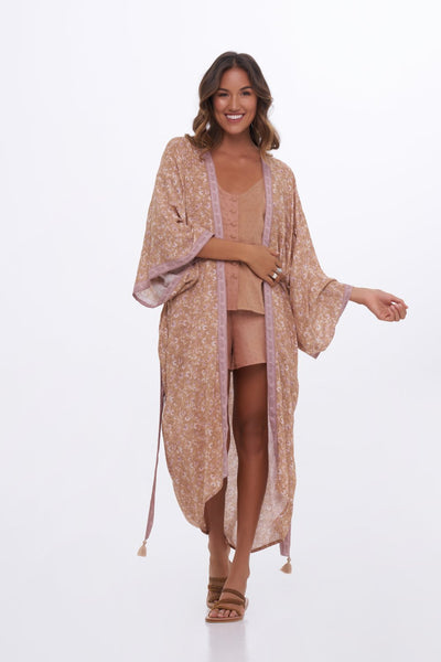 Indian Summer Co Anouk Kimono - Doe