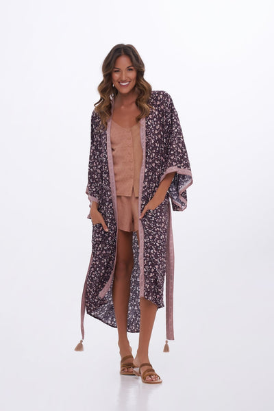 Indian Summer Co Anouk Kimono - Midnight