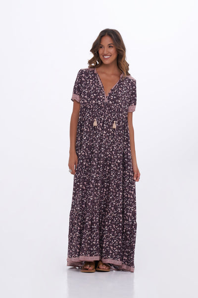 Indian Summer Co Clementine Dress - Midnight