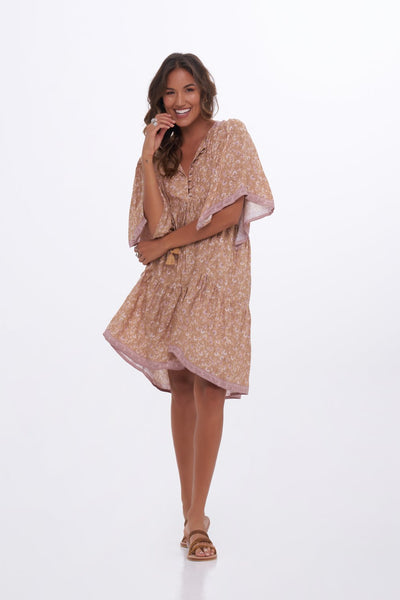Indian Summer Co Pomelo dress - Doe